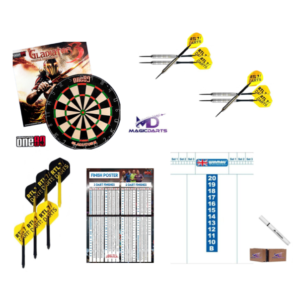 darts set 2 dartpijlen dartbord