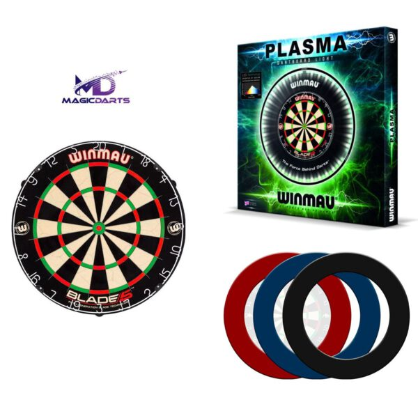 Dartbord set 3 Winmau Professioneel