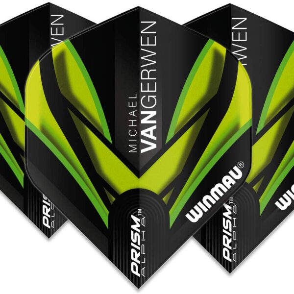 Michael van gerwen flights Prism Alpha MvG Translucent Black with Green waves