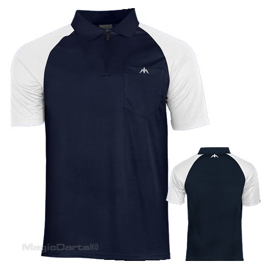 Mission Darts shirt Navy blue White