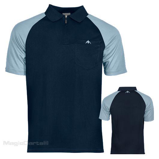 Mission Darts shirt Navy blue sky blue