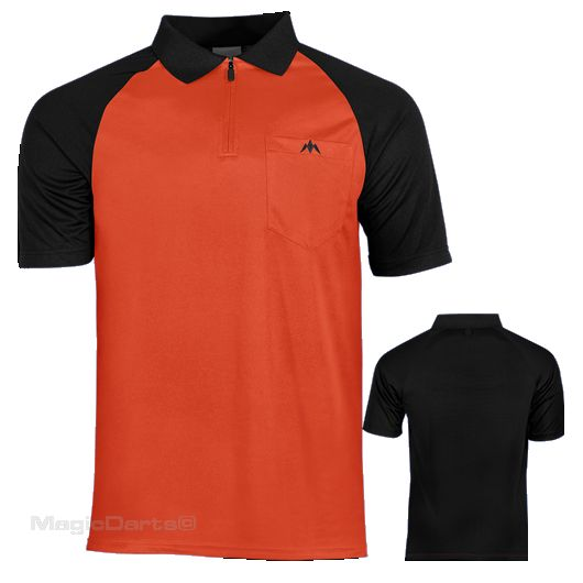 Mission Darts shirt Oranje Zwart