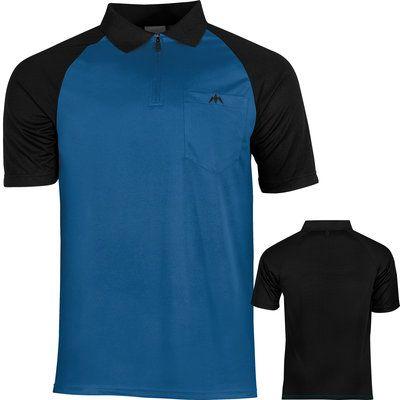 Mission Darts shirt blauw zwart