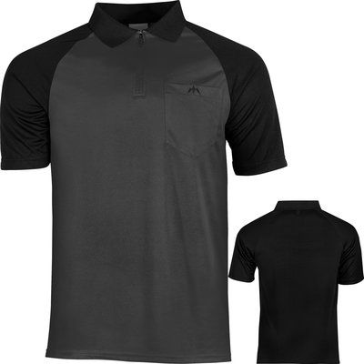 Mission Darts shirt grijs zwart