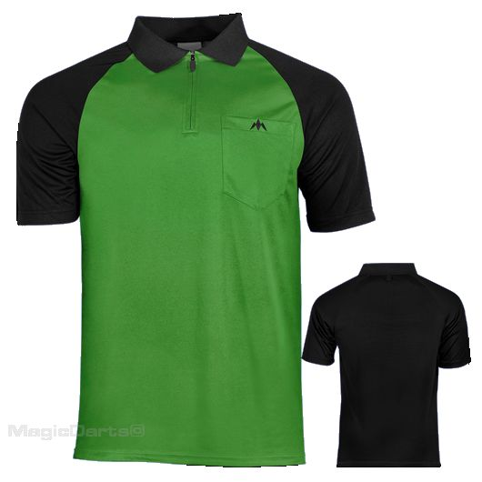 Mission Darts shirt groen zwart