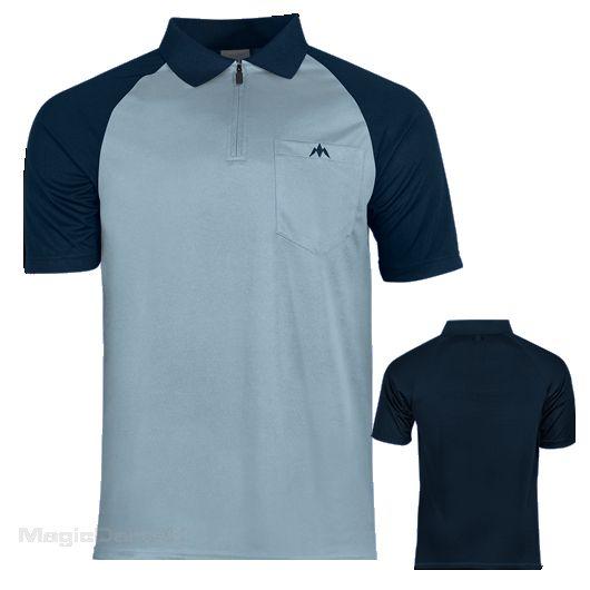 Mission Darts shirt sky blue navy blue