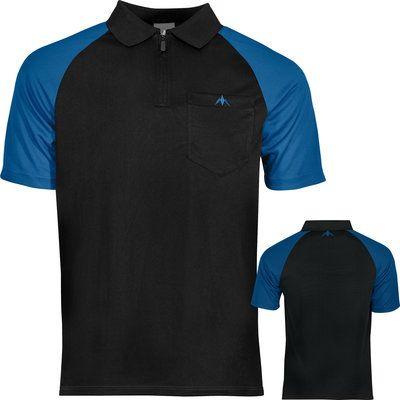 Mission Darts shirt zwart blauw