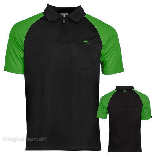Mission Darts shirt zwart groen