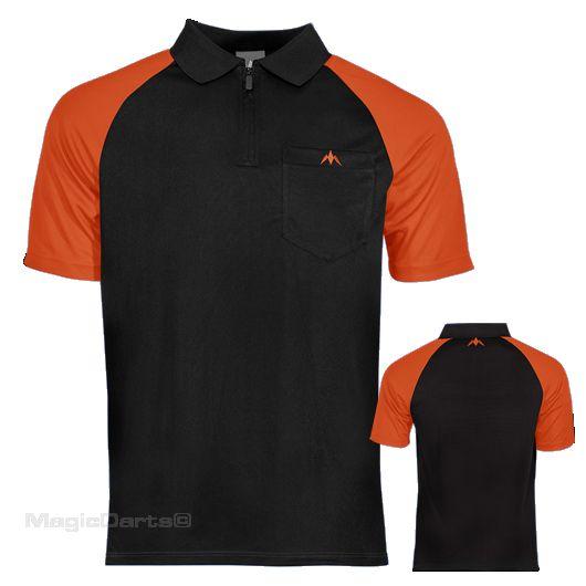 Mission Darts shirt zwart oranje