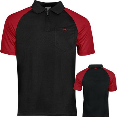 Mission Darts shirt zwart rood