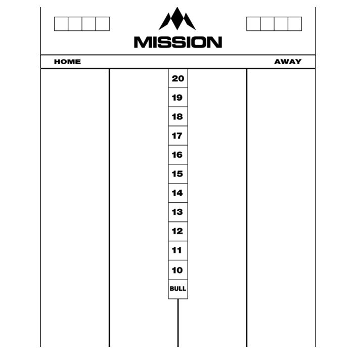 Mission Whiteboard 50x40