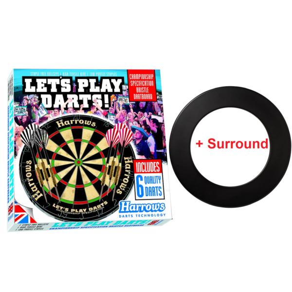 Harrows Dartsset 1 dartbord dartpijlen surround
